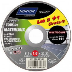 DISQUE MULTI COUPE 115X1.6 LOT  3+1