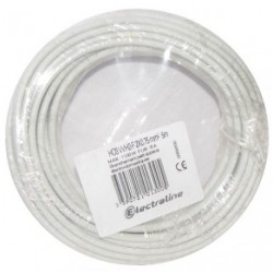CABLE H03VVH2F 2X0.75 05M BLANC COURON