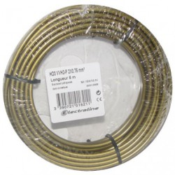 CABLE H03VVH2F 2X0.75 05M V/OR COURONN