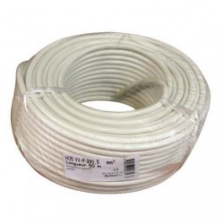 CABLE H05VVF 2X1.5 50M BLANC  COUR.