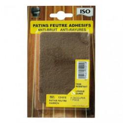 PATIN FEUTRE ADH.100X75 MARRON X1   SC
