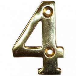 CHIFFRE LAITON 51MM N°4 A VISSER    SC