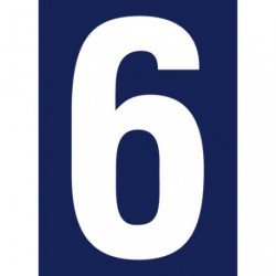 CHIFFRE ADHESIF N°RUE 6             SC