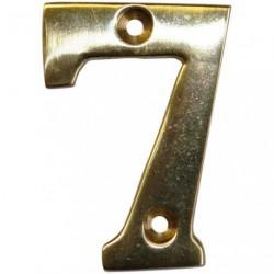 CHIFFRE LAITON 51MM N°7 A VISSER    SC