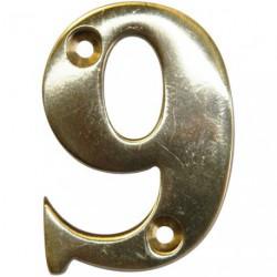 CHIFFRE LAITON 51MM N°9 A VISSER    SC