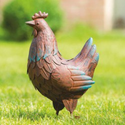 POULE DECORATIVE ACIER PICOTA