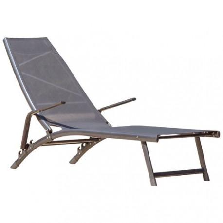 bain de soleil pliant florida gris maison de la droguerie. Black Bedroom Furniture Sets. Home Design Ideas