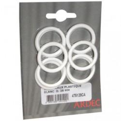 ANNEAUX PLAST.BLANCS D.28MM         SC