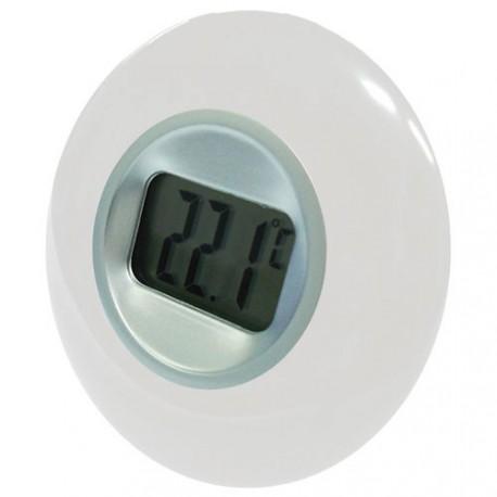 Thermometre 77 a ecran lcd blanc maison de la droguerie for Thermometre piscine otio