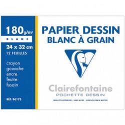 PAPIER DESSIN 180G.CLAIREFONTAIN