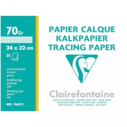 PAPIER CALQUE CLAIREF.20F.24X32