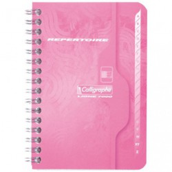 CARNET REPERTOIR SPIRAL 9X14