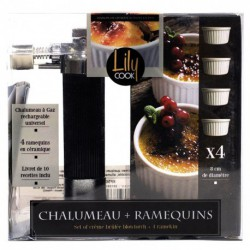 CHALUMEAU CREME BRULEE + 4 RAMEQUINS