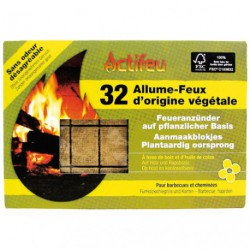 allume feu actifeu bois colza 32 cubes maison de la droguerie. Black Bedroom Furniture Sets. Home Design Ideas