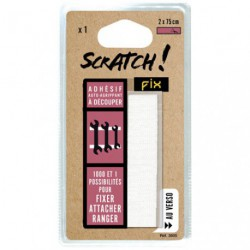 BANDE SCRATCH ADHESIVE NOIRE 20X750MM