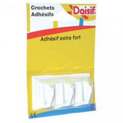 CROCHET ADH.CARRE X3 BLANC D1     2174