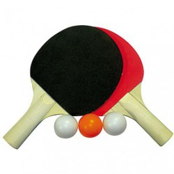 RAQUETTES PING PONG X2 +3BALLES     /S