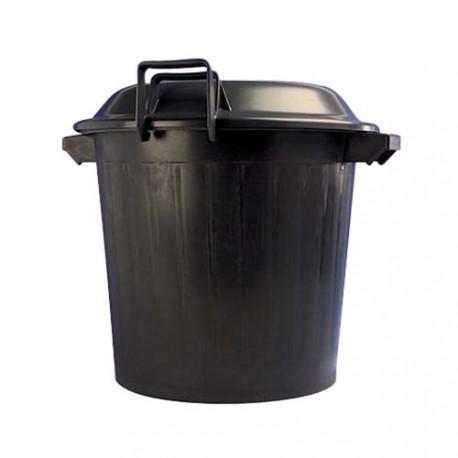 poubelle lisse noir couvercle maison de la droguerie. Black Bedroom Furniture Sets. Home Design Ideas