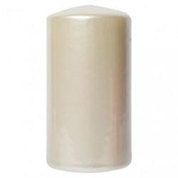 BOUGIE CYLINDRIQUE TP GM BLANC NACRE