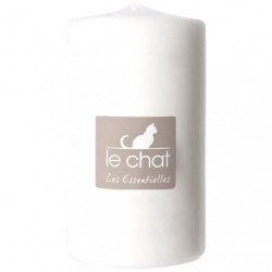 BOUGIE CYLINDRIQUE 68X115MM TP BLANCHE
