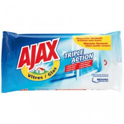 AJAX VITRES LINGETTES X40