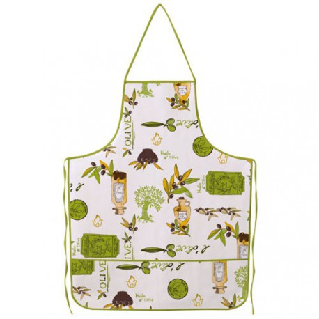 TABLIER TOILE CIREE OLIVES ET HUILE