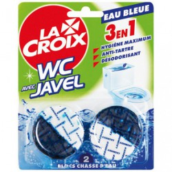 LACROIX WC BLOC CHASSE EAU BLEUE 2X48G
