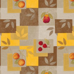 NAPPE TOILE CIREE FIB.CARRE FRUITS 140