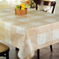 NAPPE TOILE CIREE MATCH TULIPEBEI.140