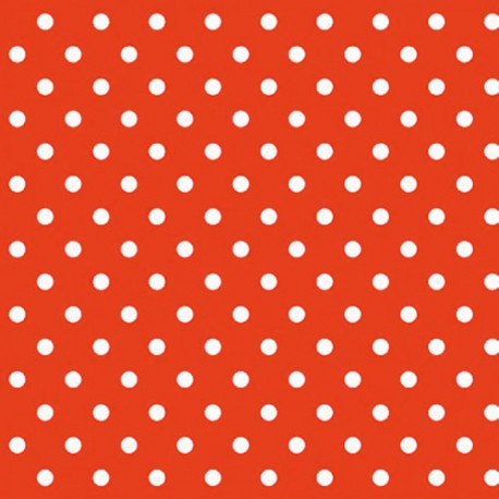 NAPPE TOILE CIREE MATCH POIS ROUGE 140